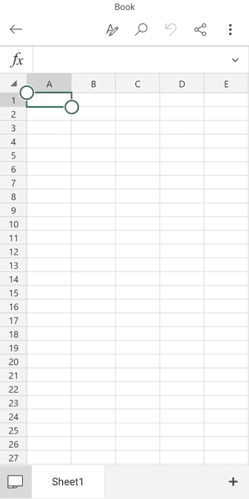Excel для iOS